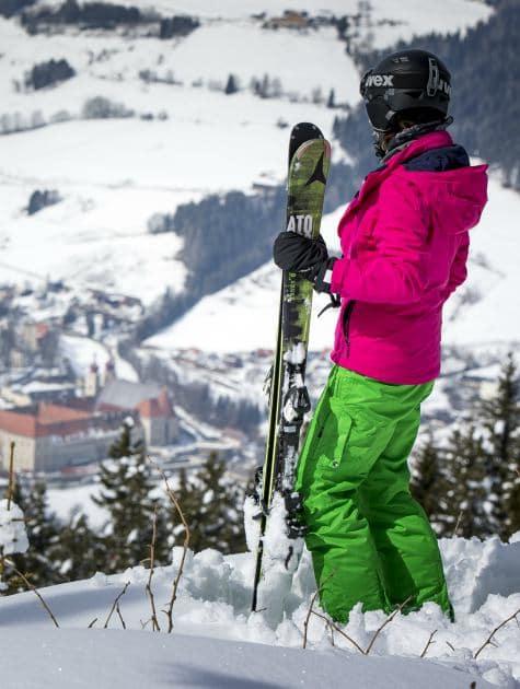 Family holiday in Austria, Austrian skiing, Naturparkhotel Lambrechterhof valley views