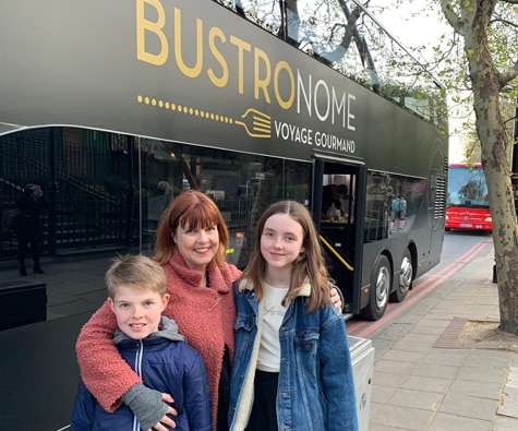 Outside the bus on Victoria Embankment