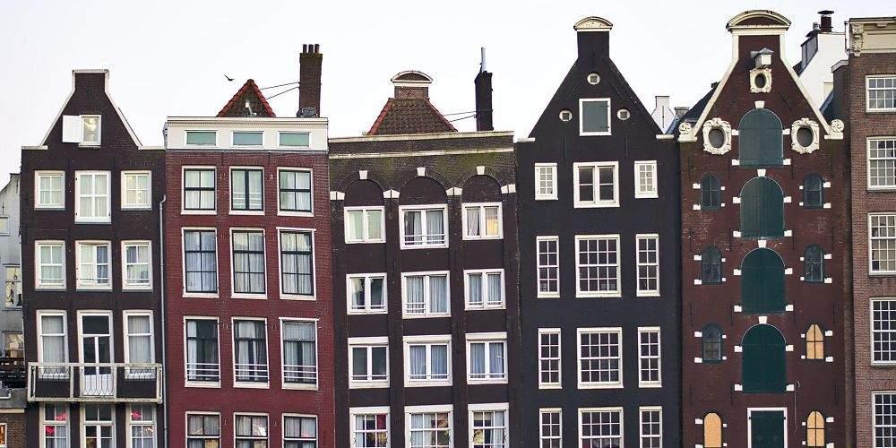 canal houses in Jordaan Amsterdam
