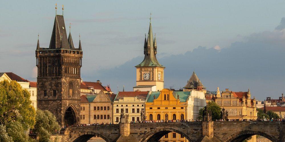 Instagrammable destinations Prague Charles Bridge and city skyline