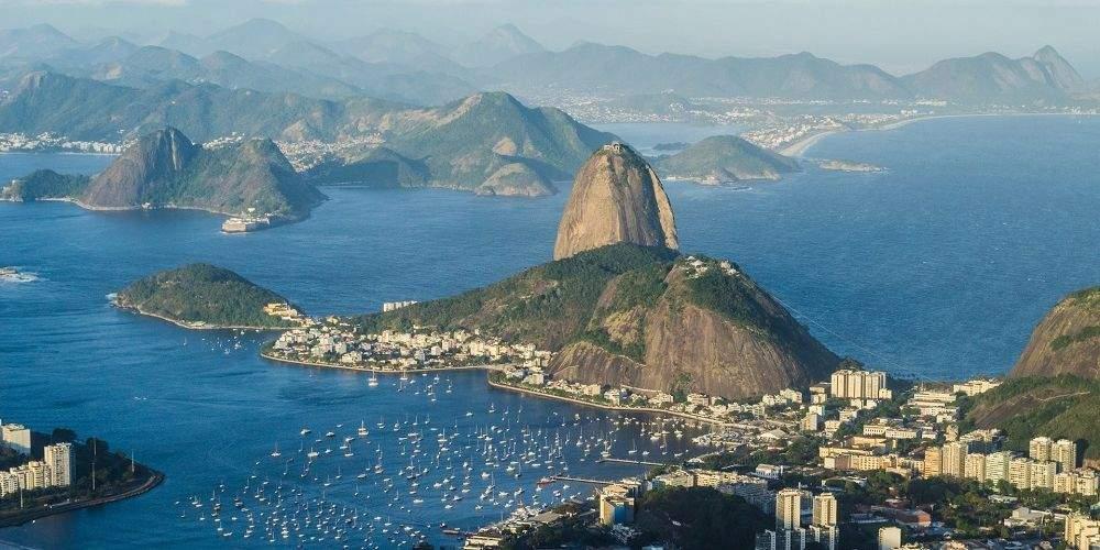 Sugar Loaf mountain and bay Rio de Janeiro Brazil