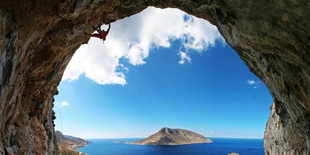 Greek island activity holidays Kalymnos rock climbing