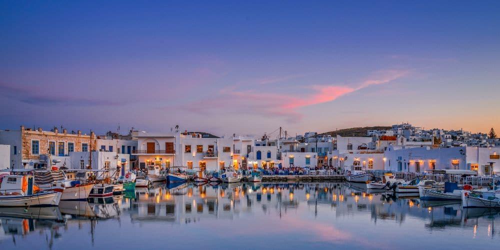 Greek island activity holidays Paros harbour surfing
