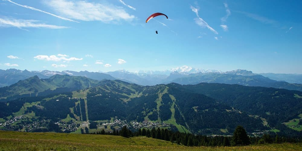 Les Gets Bike Park family activity holidays summer 2021 paragliding French Alps