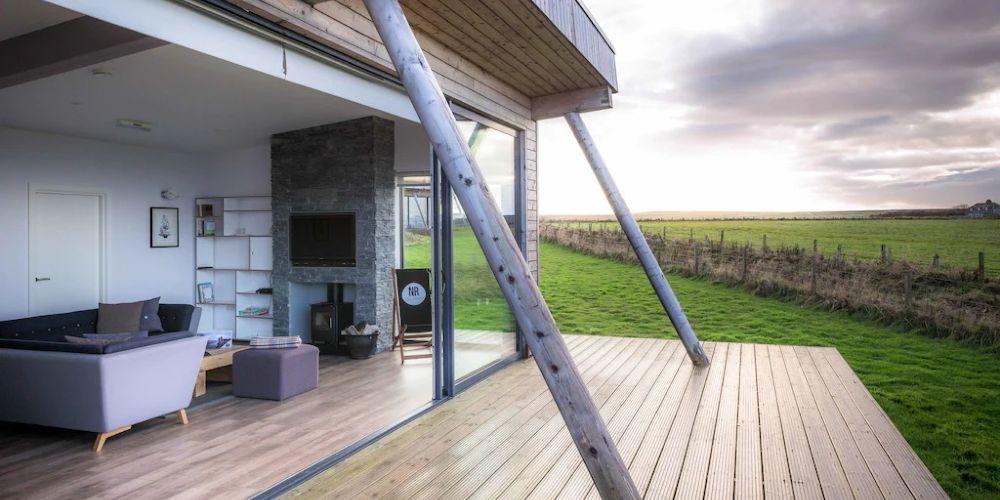 family holidays homes to rent Vrbo eco lodges John o' Groats Scotland
