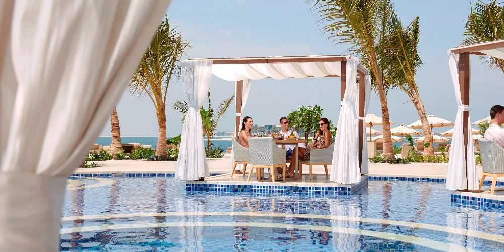 Dubai family holidays Waldorf Astoria Dubai Palm Jumeira Palm Avenue Cabanas