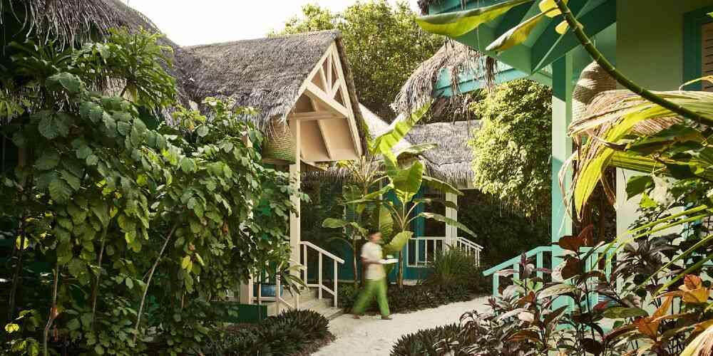 Finolhu Baa Atoll spa in lush tropical gardens in the Maldives