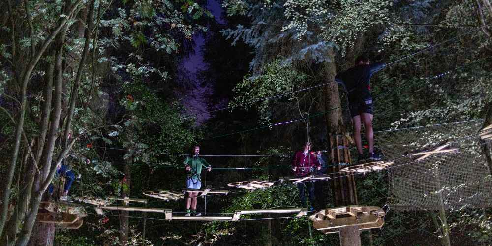 Go Ape After Dark torchlight treetop rope courses October family events UK