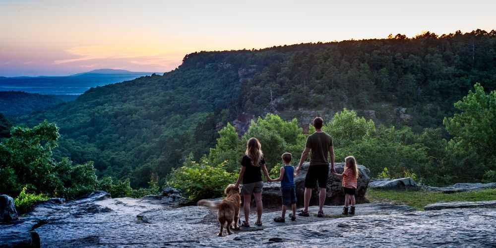 Arkansas family vacation Petit Jean Overlook Arkansas