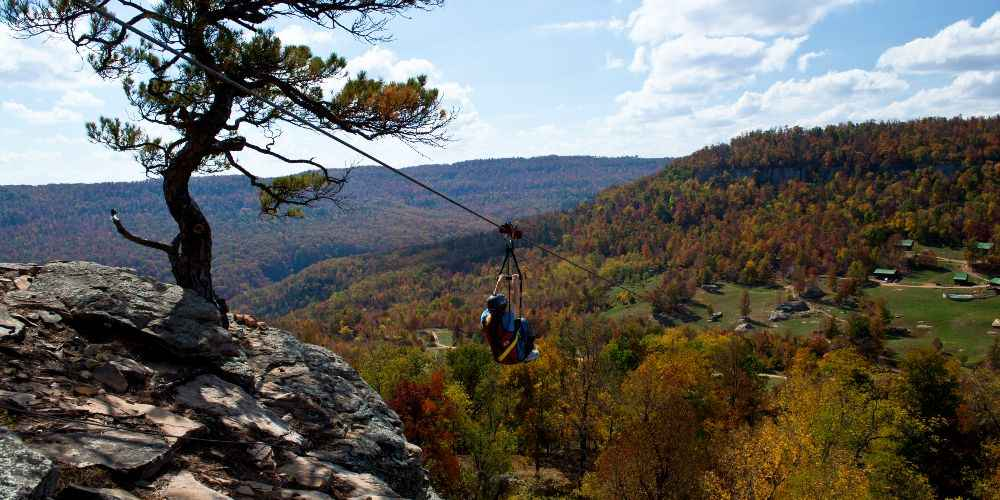 Arkansas family vacation Horseshoe Canyon Ranch Fall Jasper