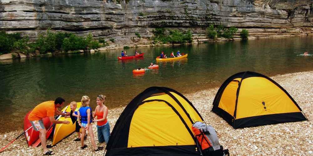 Arkansas family vacation family camping on Buffalo National River