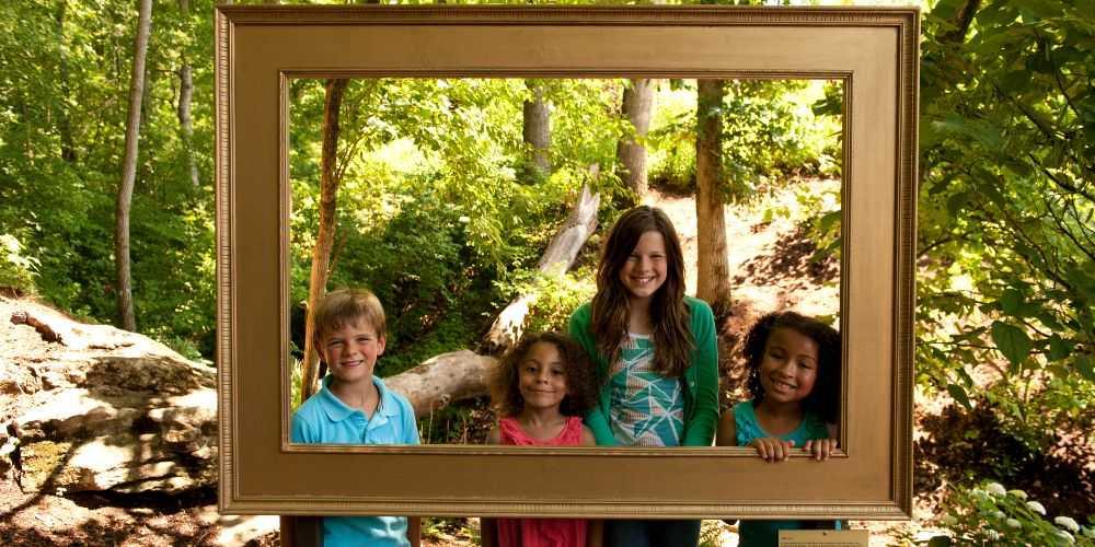 Arkansas family road trip Crystal Bridges Museum of American Art grounds Bentonville Arkansas