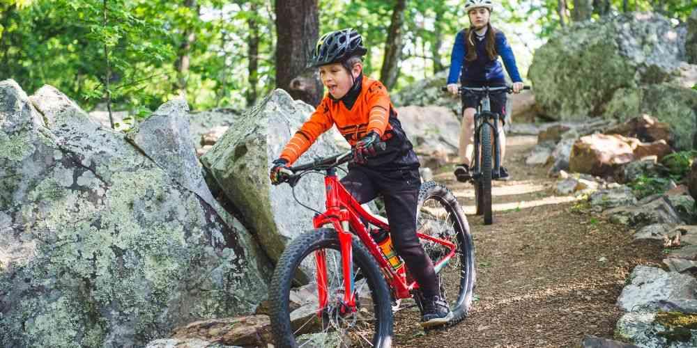 Arkansas family vacation Mount Nebo mountain biking kids